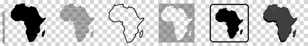 Fototapeta Africa Map | African Border | Continent | Isolated Transparent | Variations