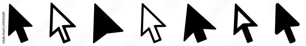 Fototapeta Cursor   Mouse Arrow Icon   Computer Mouse Pointer   Click Variations
