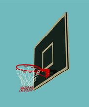 Realistic Basketball Backboard Vector Illustration