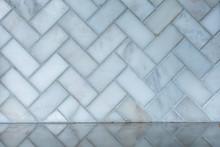 White And Gray Herringbone Ita...