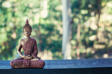 Buddha Statue Isolated Outside...