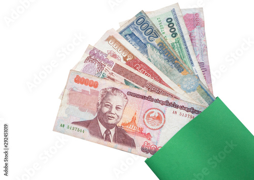 Wall Murals Chicken Laos money kip banknotes, LAK banknotes.