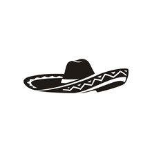 Simple Black Mexican Hat Sombr...