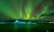 Colorful Aurora Borealis Dancing In The Sky