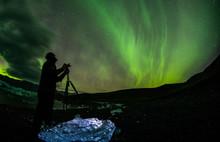 Colorful Aurora Borealis Dancing In The Sky