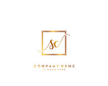 Initial SC Beauty Monogram And...