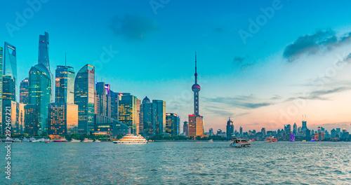 Foto auf AluDibond Shanghai China's Shanghai Pudong New Area cityscape