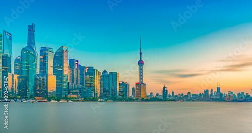Foto auf Leinwand Shanghai China's Shanghai Pudong New Area cityscape