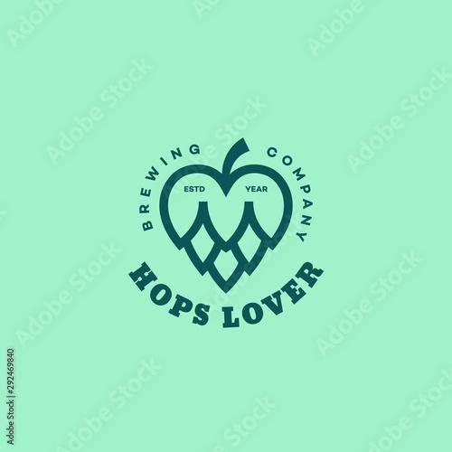 Fotomural Hops lover logo
