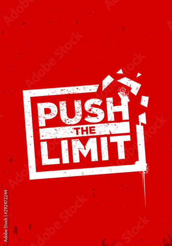 push the limit motivation quotes vector design