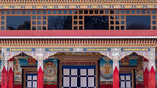 Fotomural Buddhist temple or monastery in Kathmandu, Nepal. Nala Gumba