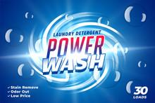 Laundry Detergent Power Wash P...