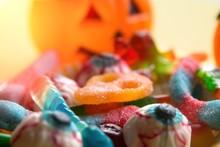 Halloween Candies With Orange ...