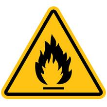 Flammable Materials Warning Si...