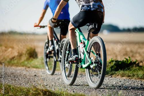 Cuadros en Lienzo  mountain bike in the country lanes