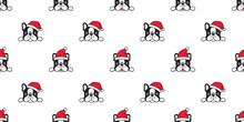Dog Seamless Pattern Christmas...
