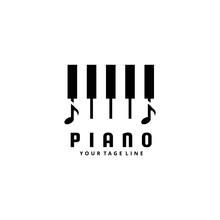 Piano Music Logo Design Combination Chord Notes