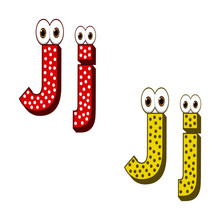 Letter J Character Capital And...
