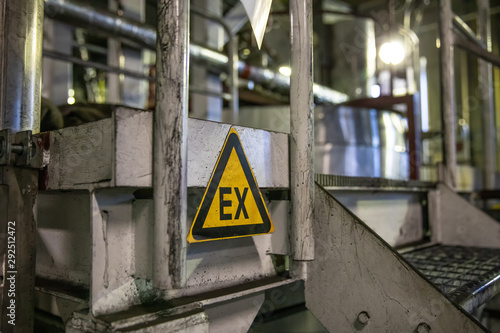 ATEX sign EX zone Fototapete