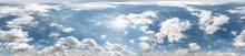 Seamless Cloudy Blue Sky Hdri Panorama 360 Degrees Angle View With Zenith And Beautiful Clouds For Use In 3d Graphics As Sky Dome Or Edit Drone Shot