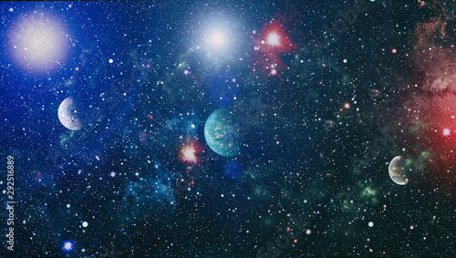 Obraz Small part of an infinite star field of space in the Universe. Blue Stanfield - Elements of this Image Furnished by NASA - fototapety do salonu