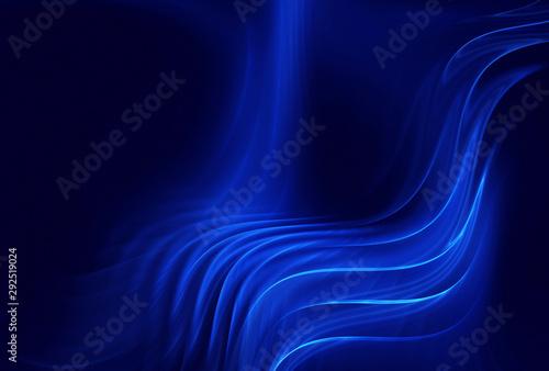 Fotobehang Fractal waves Abstract color dynamic background with lighting effect. Fractal wavy. Fractal art