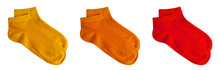 Set Of Short Socks Yellow, Ora...