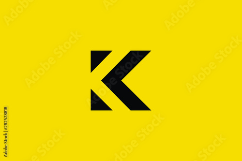 Obraz na plátně  Initial based clean and minimal K Logo