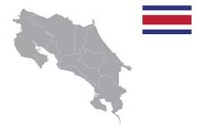 Costa Rica Map. Costa Rica Fla...