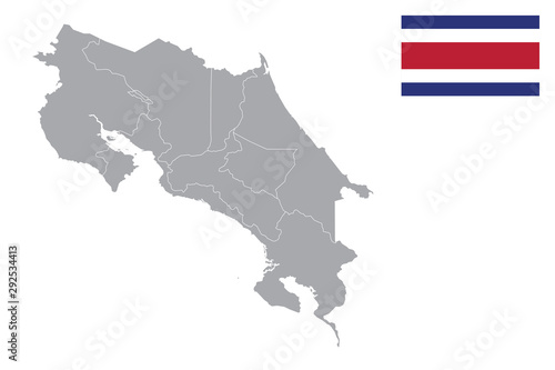 Costa Rica map Wallpaper Mural