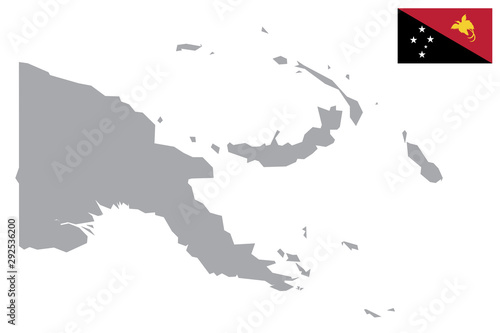 Fotografía Papua New Guinea map
