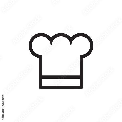Chef cap vector icon, hat symbol Canvas Print