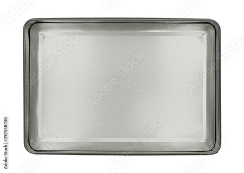 Photo  Metal box top view (with clipping path) isolated on white background