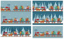 Christmas Train With Bear, Rei...