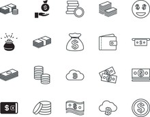 Cash Vector Icon Set Such As: ...