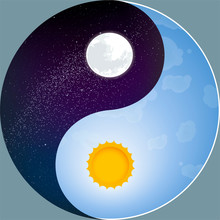 Nature Yin Yang With Sun And M...