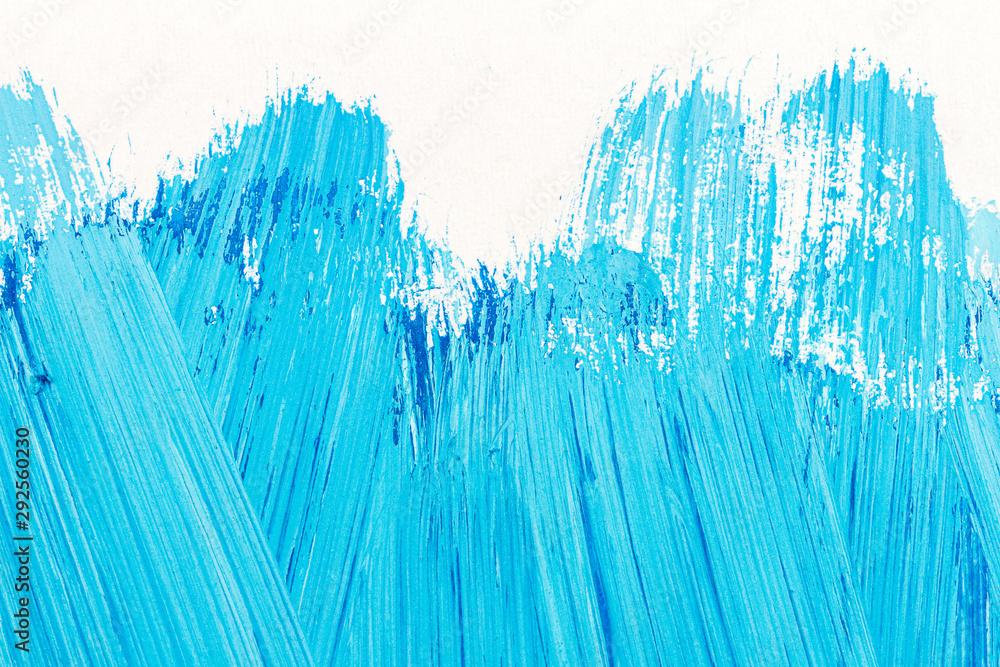 Fototapeta Abstract brushed blue acrylic arts background