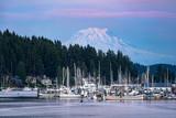 Mount Rainier Looming over Gig Harbor Washington