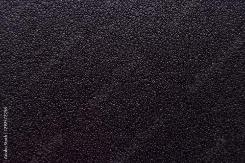 black foam texture background, black Ethylene Vinyl Acetate foam texture Fototapeta