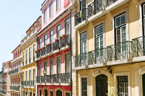 Wall Murals Old building Lisbon, Portugal - September 2, 2019: traditional buildings at the streets of old city