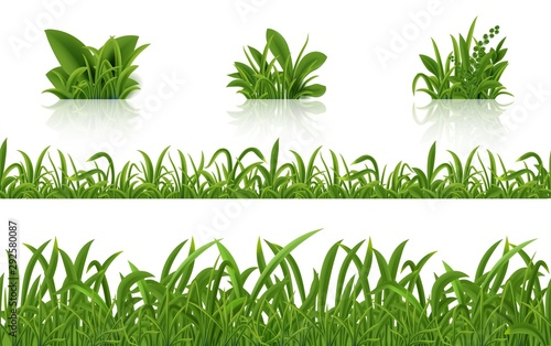 Realistic green grass Canvas Print