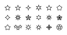 Stars Line Icons. Different Ty...
