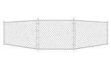Grey Chain Fence. Vector Illustration
