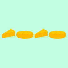 Abstraction, Pieces Of Cheese Laid Out In Numbers 2020. New Year S Greetings In Rat Language