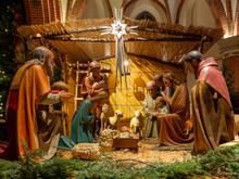 Christmas Nativity Scene In A ...