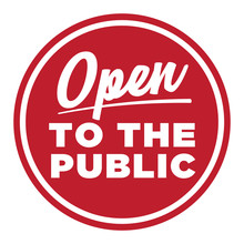 Open To The Public Sign | Open Icon For Stores & Businesses | Retro Symbol