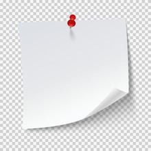 Blank Note Papers, Pinned With...