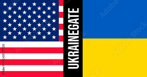 Ukrainegate illustration Canvas Print