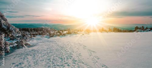 atemberaubende Winterlandschaft mit Schnee im Schwarzwald Schwarzwaldhochstraße
