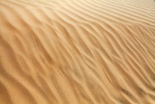 Desert Sand Dunes, Sand Waves On Cerro Blanco Sand Dune